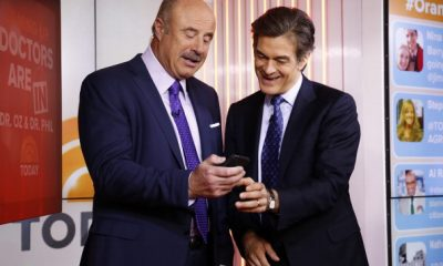 "TODAY -- Pictured: (l-r) Dr. Phil McGraw and Dr. Mehmet Oz appear on NBC News' ""Today"" show -- (Photo by: Peter Kramer/NBC/NBC NewsWire via Getty Images)"